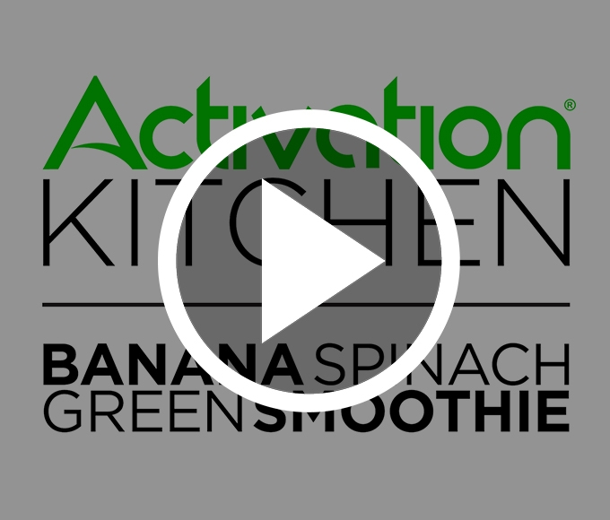 Activation Kitchen: Banana Spinach Green Smoothie