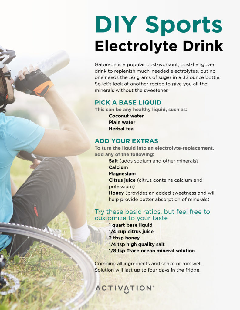 Electrolyte Imbalance How Can I Replace Natural Electrolytes